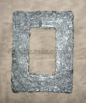 Рамка з сизалю 15/20 см, срібляста