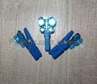 Бабочка на прищепке, синяя