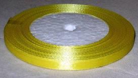 Лента атласная 6 мм, желтая