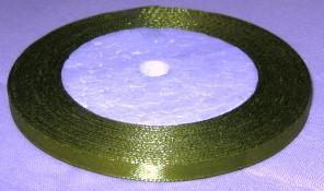 Лента атласная 6 мм, оливковая