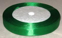 Лента атласная 12мм, зеленая