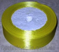 Лента атласная 2,5 желтая
