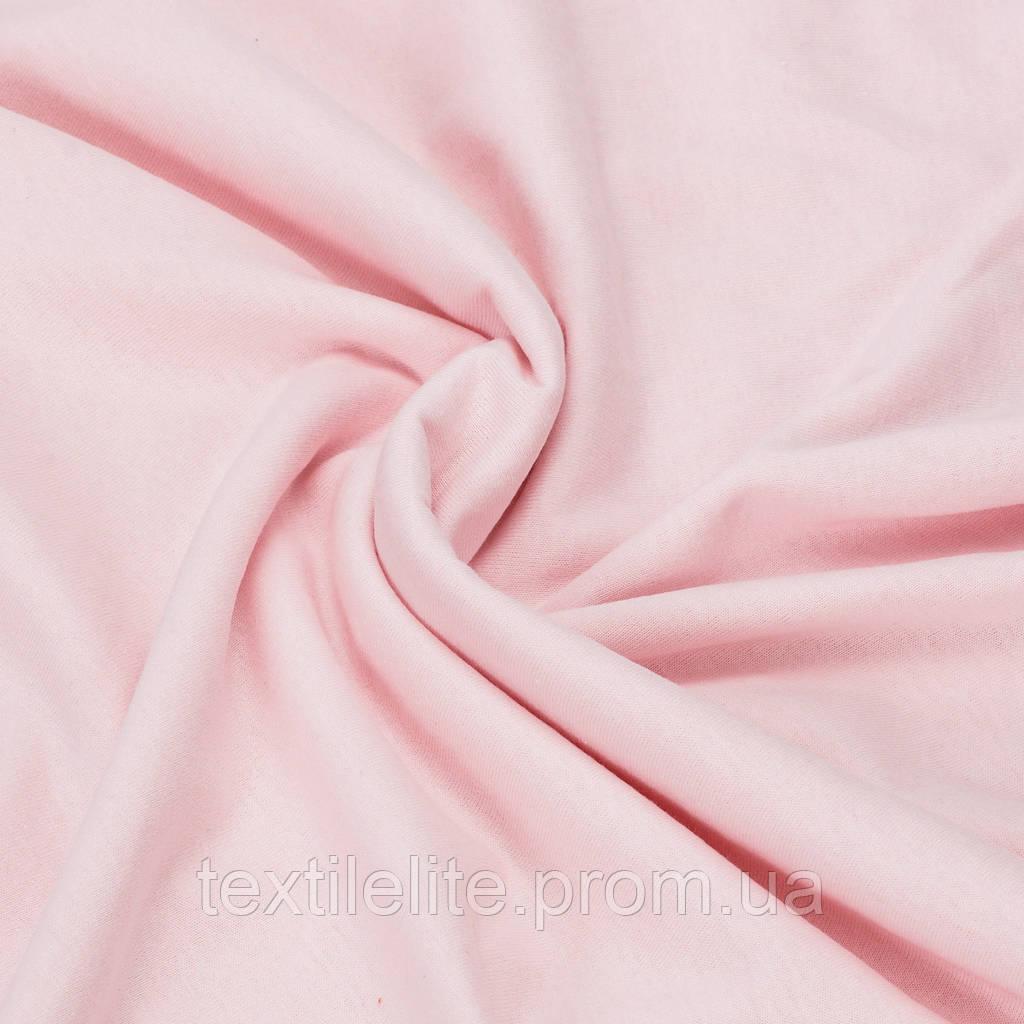 Трикотажная ткань кулир хлопковый 100%. Цвет — нежно розовый