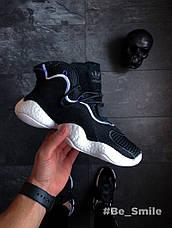 Кроссовки мужские Adidas Crazy BYW (черные) Top replic, фото 2