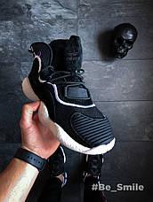 Кроссовки мужские Adidas Crazy BYW (черные) Top replic, фото 3