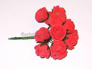 Розочки латекс 10/2,5 см красные