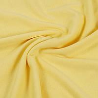 Трикотажная ткань кулир 100% хлопок. Цвет — Желтый банановый