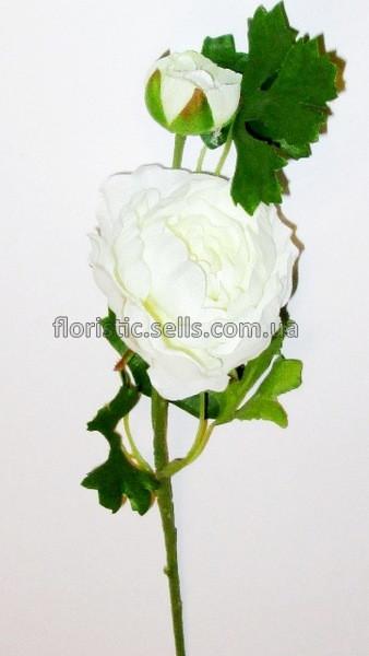 Ранункулюс белый 33 см