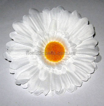 Головка герберы 11 см, белая