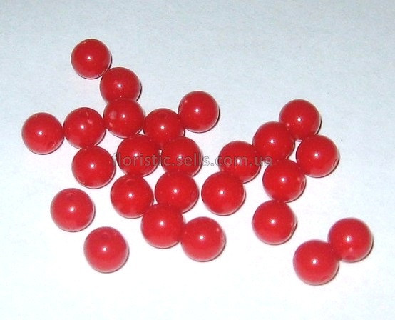 Бусины красные 0,8 см
