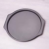 """6015 Форма для запікання Kamille """"Піци"""" 35*33.5*2.5 см з вуглецевої сталі"""