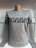 Свитер женский с узором на груди Универсальный рр норма, фото 1