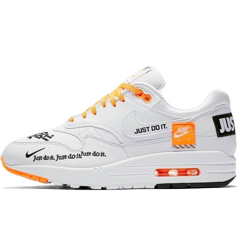 "ce4daba6 Кроссовки Женские Nike Air Max 1 SE LX ""Just Do It"" (белые) Top ..."