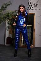 Спортивный костюм, трехнитка на флисе + плащевка Размер: 42/44. Цвета разные (5143)