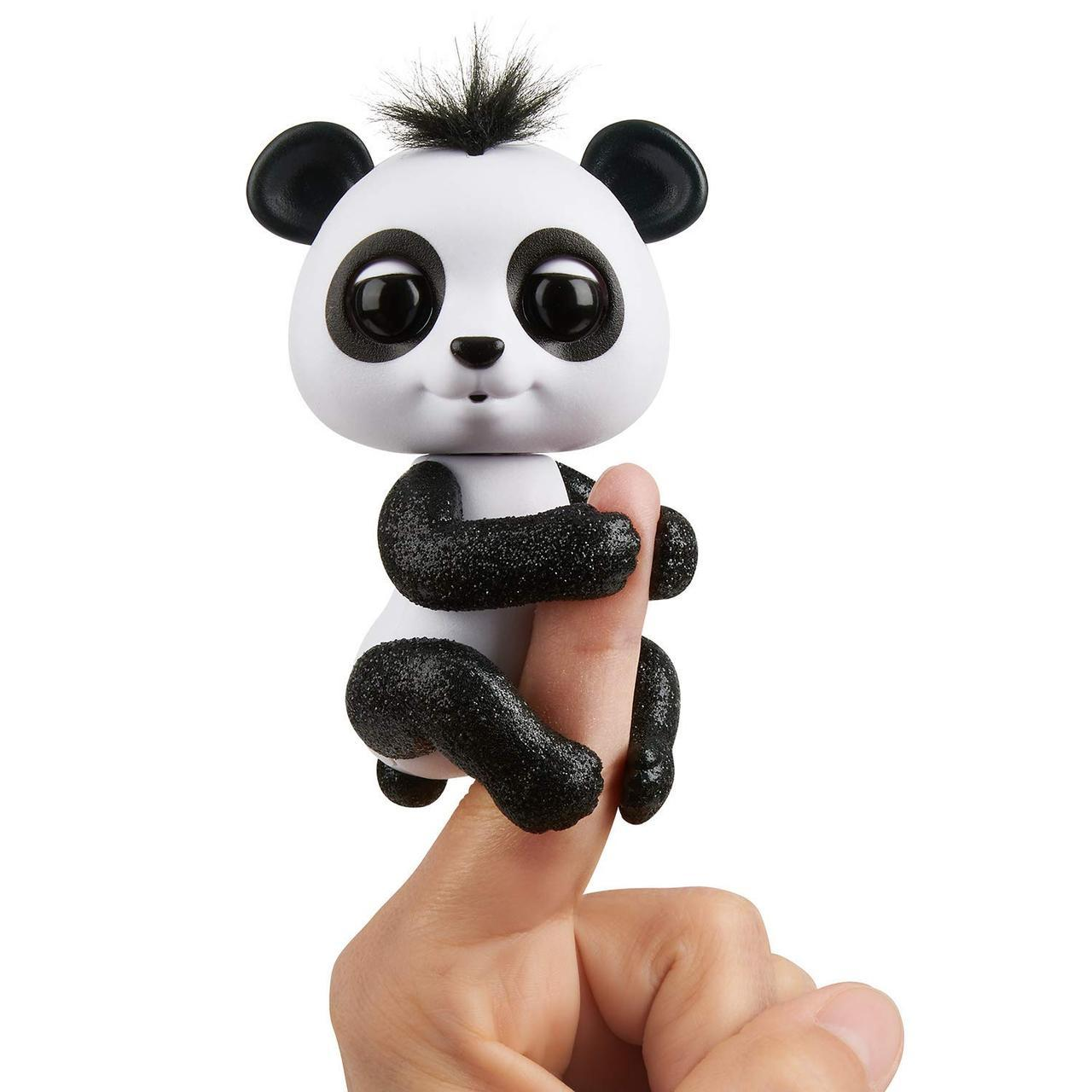 Интерактивная панда чёрная Дрю, Glitter Panda WowWee Fingerlings Оригинал из США