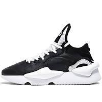 Кроссовки мужские Adidas Y-3 Kaiwa (черные-белые) Top replic