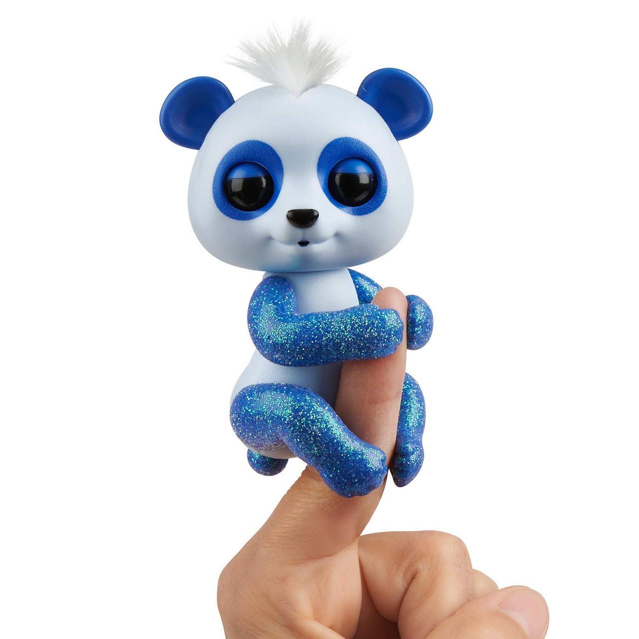 Интерактивная панда синяя Дрю, Glitter Panda WowWee Fingerlings Оригинал из США