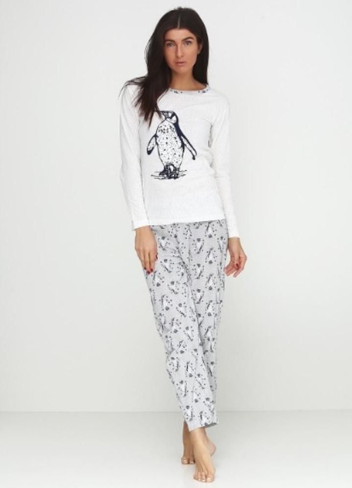 f4b6f40dee3a6 Теплая женская пижама с начесом - Интернет-магазин