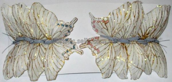 Бабочки белые 12/6 см
