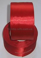 Лента атлас 5см красная