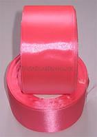 Лента атласная 5см розовая