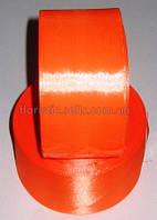 Лента атласная 5 см оранжевая