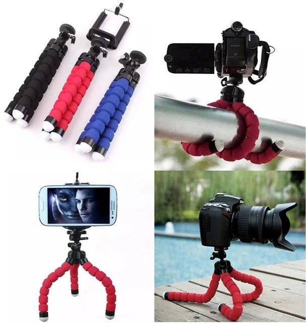 Гибкий штатив осьминог, трипод, тренога для экшн камер, мини штатив для телефона