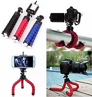 Гибкий штатив осьминог, трипод, тренога для экшн камер, мини штатив для телефона, фото 1
