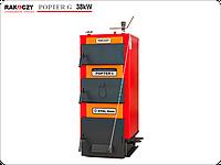 Котел твердопаливний Rakoczy Popter G, 38 кВт, Польша / Котел твердотопливный Ракочи Поптер Г, верхнє горіння