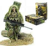 """Игровой набор класса Premium, фигурка американского солдата """"Sniper Elite"""" с аксессуарами. Подарочный набор."""