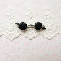 Очки мини для куклы, солнцезащитные, серебро - 5*1.5 см