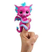 Интерактивный дракончик Розовый, Glitter Dragon, WowWee Fingerlings Оригинал из США, фото 1