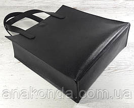 281 Натуральная кожа, черная Сумка-пакет на подкладке, Сумка-шоппер кожаная черная сумка кожаная черная , фото 3