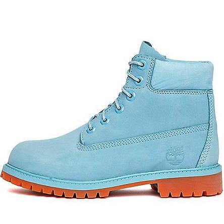 c63f6499 Ботинки женские Timberland Classic Boots (голубые) Top replic , фото 2