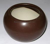 Горшок керамический 9/6 см, коричневый