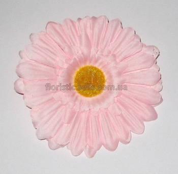 Головка герберы 11 см, розовая