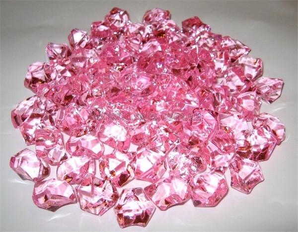 Лед искусственный розово-малиновый 400гр.