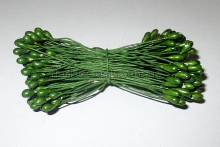 Тычинки глянцевые зеленые 7см.