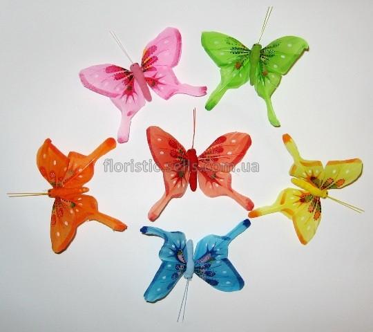 Бабочки декоративные с хвостиками