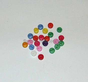 Пуговицы разноцветные 6 мм