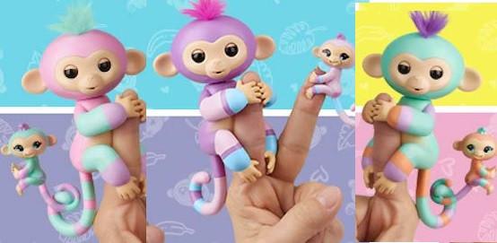 Интерактивные ручные обезьянки мама и малыш, WowWee Fingerlings Baby Monkey & Mini BFFs