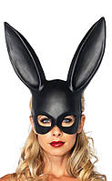 Милые уши зайца, Маска кролика PlayBoy, черная 38см!
