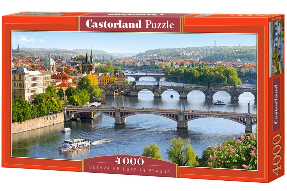"""Пазлы касторленд на 4000 деталей. """"Мосты через Влатву. Прага"""""""