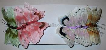 Бабочки искусственные, перо 8/4 см