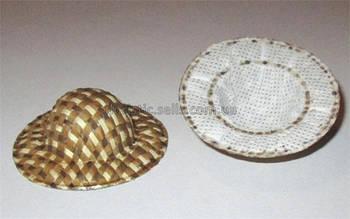 Шляпка декоративная коричневая