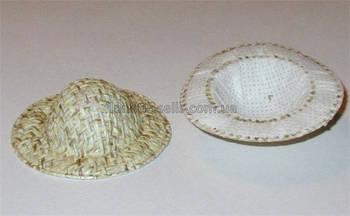 Шляпка декоративная бежевая