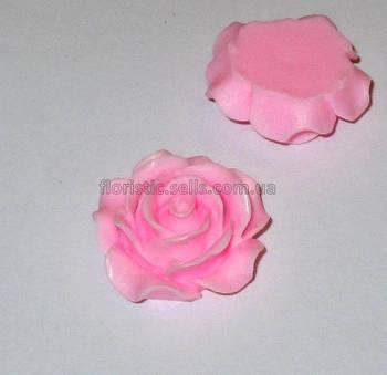 Розочка Fimo розовая 3см