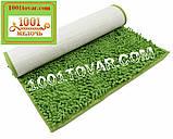 """Коврики из микрофибры """"Макароны или дреды"""" для широкого применения, 60х40 см., светло-зелёный цвет, фото 6"""