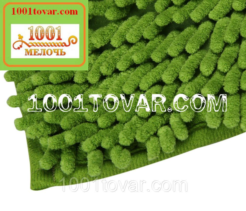 """Коврики из микрофибры """"Макароны или дреды"""" для широкого применения, 60х40 см., светло-зелёный цвет"""