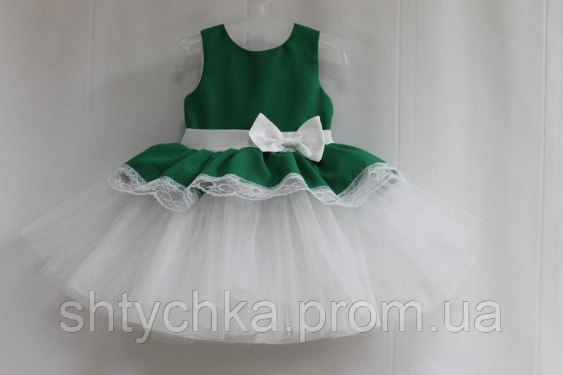 """Нарядное платье на девочку """"Зеленая травка"""""""